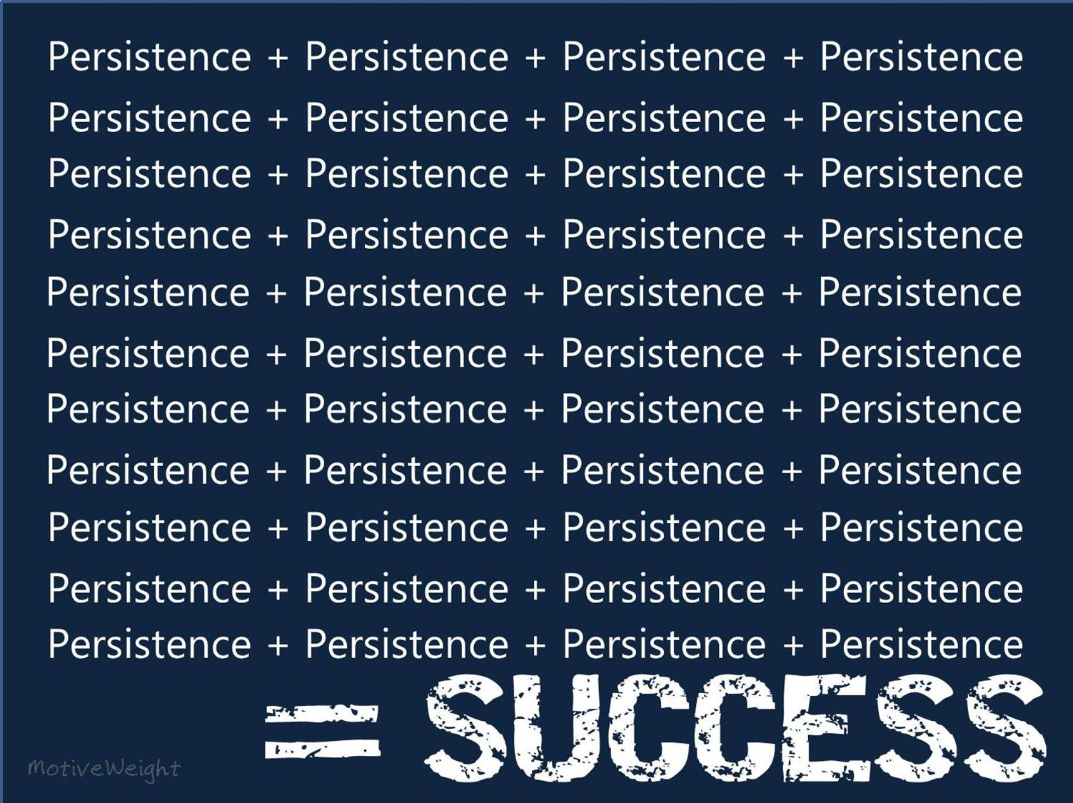 Persistence Motivational Quotes: MotiveWeight: Persistence Conquers All Resistance