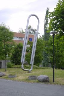 Monumento al clip en Noruega