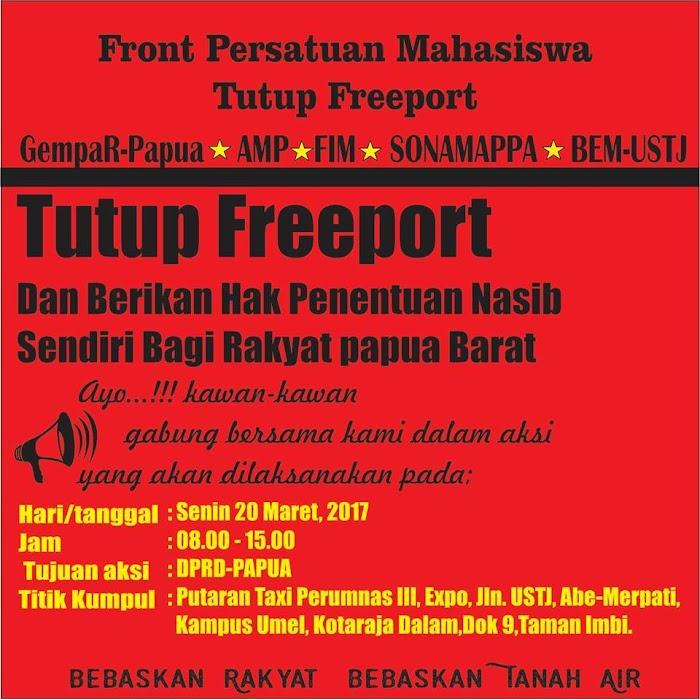 Bebaskan Rakyat Bebaskan Tanah Air, FPM Siap Gelar Aksi Tutup Freeport