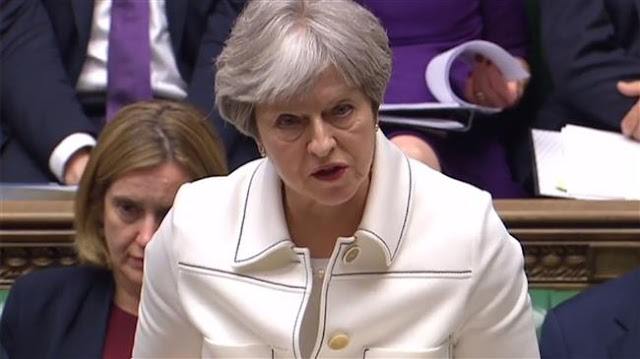 British Prime Minister Theresa May says UK strikes on Syria were in national interest