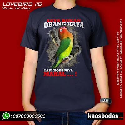 Kaos Lovebird kode 115