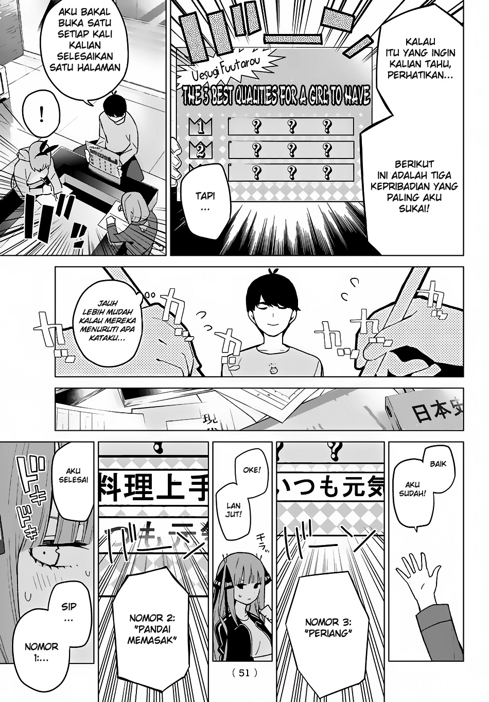 Go-Toubun No Hanayome Chapter 17 Bahasa Indonesia