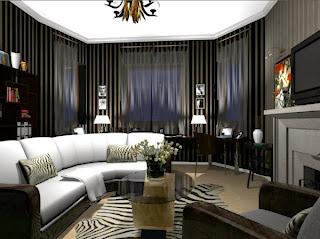 sala colores blanco y negro