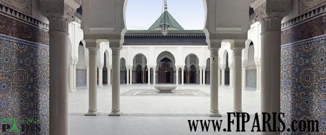 مسجد باريس الكبير من أكبر مساجد فرنسا وأقدمها