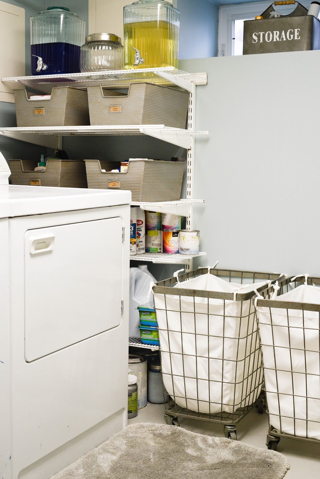 how to organize your laundry room home with keki