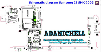 Schematic diagram Samsung J2 SM-J200G