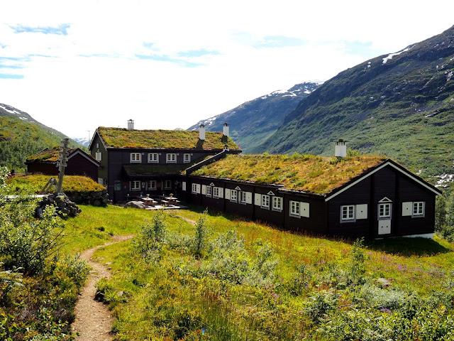 chata Skogadalsbøen, Jotunheimen, příroda, krása, pohádka, Norsko