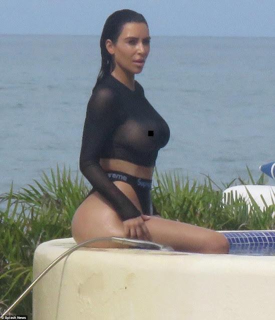 Foto Kim Kardashian Paha Putih Mulus