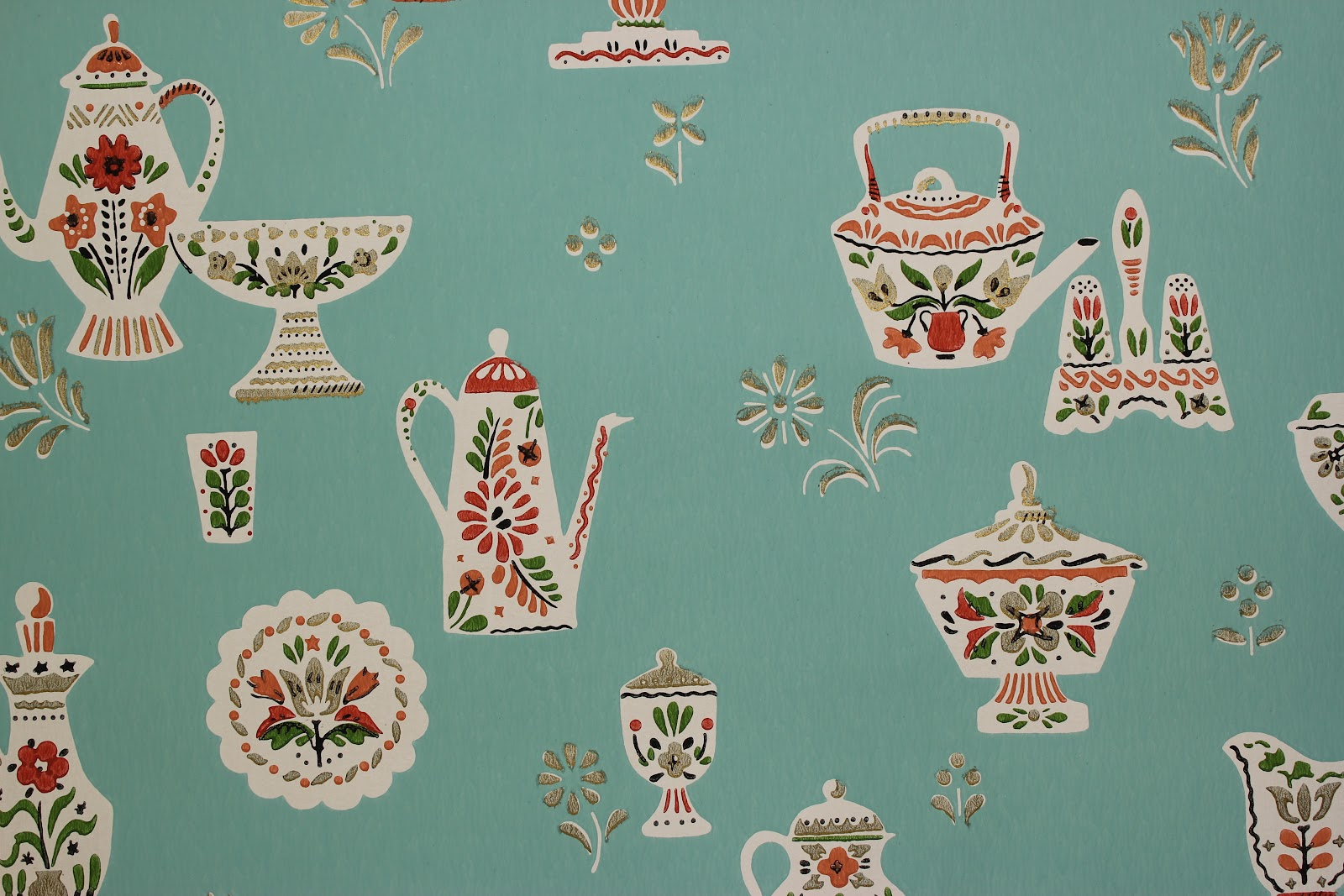 Rosie's Vintage Wallpaper: History of Kitchen Wallpaper