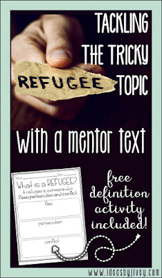 Ideas by Jivey tackles the tricky topic of refugees with students by using Gleam and Glow by Eve Bunting.