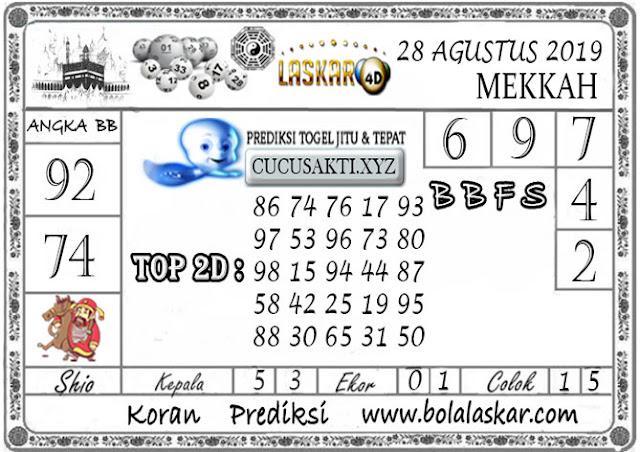 Prediksi Togel MEKKAH LASKAR4D 28 AGUSTUS 2019