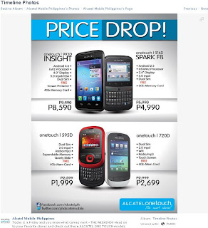 Alcatel One Touch 993D, 916D, 595D and 720D Price Drop
