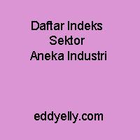 Daftar Indeks Sektor Aneka Industri