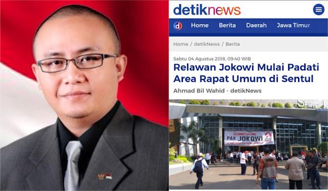 Relawan Jokowi Hadiri Rapat Umum di Sentul, CEO AMI Grup Lontarkan Kritik Tajam