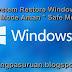 Cara System Restore Windows 8 / 8.1 dari Safe Mode