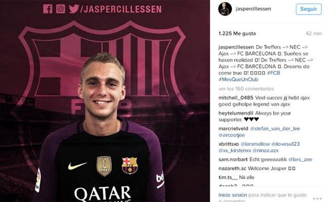 El Barça corrigió a su nuevo portero en Redes