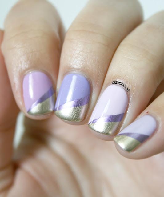 Glitter And Nails Purple Monochrome Tuto