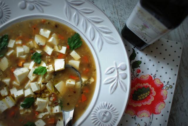 zupa grzybowa,ostropest plamisty,pęczak,ser koryciński,Woj-Len,zdrowe odżywianie,zupy