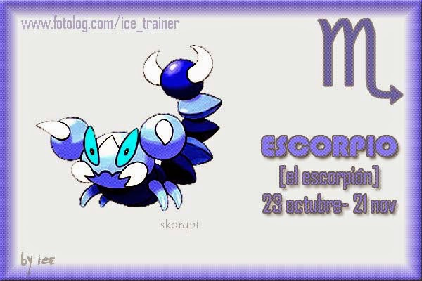 Horoscopo Pokemon Signo Escorpio