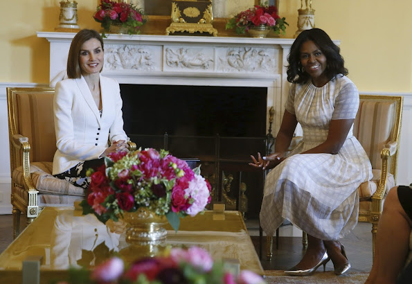 Spain's Queen Letizia will meet with First Lady Michelle Obama