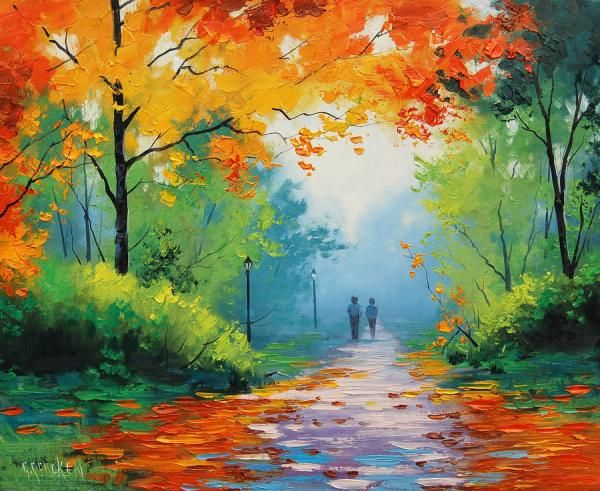 Wallpaper 1440x1280 Px Abstract Love Nature: Impressionist Landscape Painter
