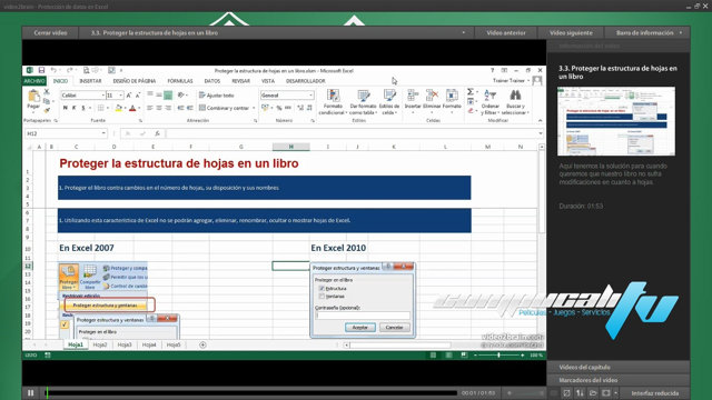 Curso Video2Brain: Protección de Datos en Excel