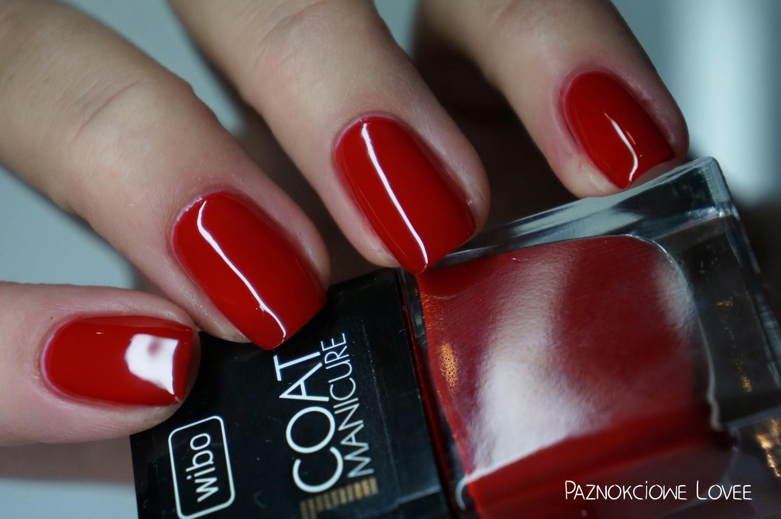 Czy to ta idealna czerwień ?! Wibo 1 coat manicure numer 7.