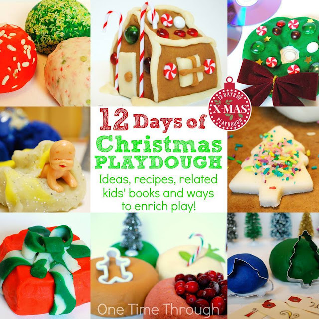 Christmas playdough ideas - Christmas advent countdown.  Fun Christmas craft and activity ideas for every day of advent. Perfect ideas for toddlers, preschoolers and older kids.