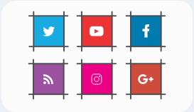 اضافة تابعنا علي صفحات التواصل الأجتماعي بشكل جديد ورائع 2018