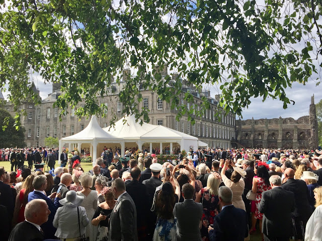 Queen's arrival at Holyrood Palace, Royal Garden Party