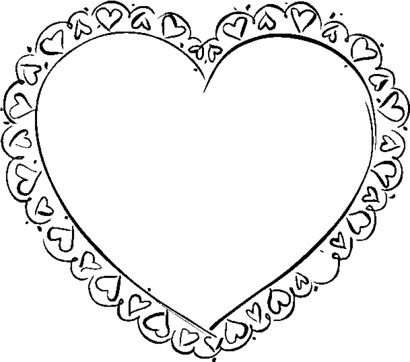 Valentines heart coloring pages for Coloring page of hearts