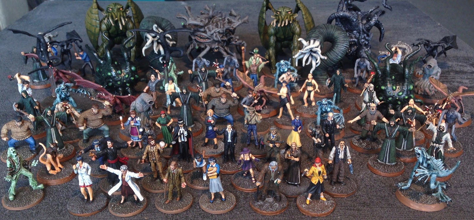 Wargaming with Barks Mansions of Madness monsters