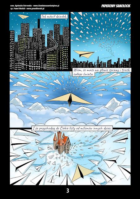 świąteczny komiks raklamowy strona trzecia