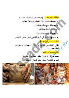 اللغة العربية : الخامسة ابتدائي نص تصنعان من الطين تحفا الوحدة 25 الصفحة 162