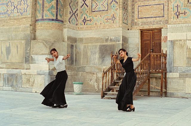 Ouzbékistan, Samarcande, Registan, médersa Cher-Dor, © Louis Gigout, 1999