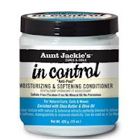 Acondicionador profundo Aunt Jackie's Curls and Coils In Control Anti-Poof Moinsturizing and Softening Conditioner 15oz.