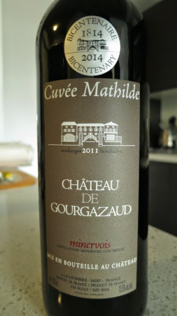 Wine Review of 2011 Château de Gourgazaud Cuvée Mathilde Minervois from AC, Midi, France