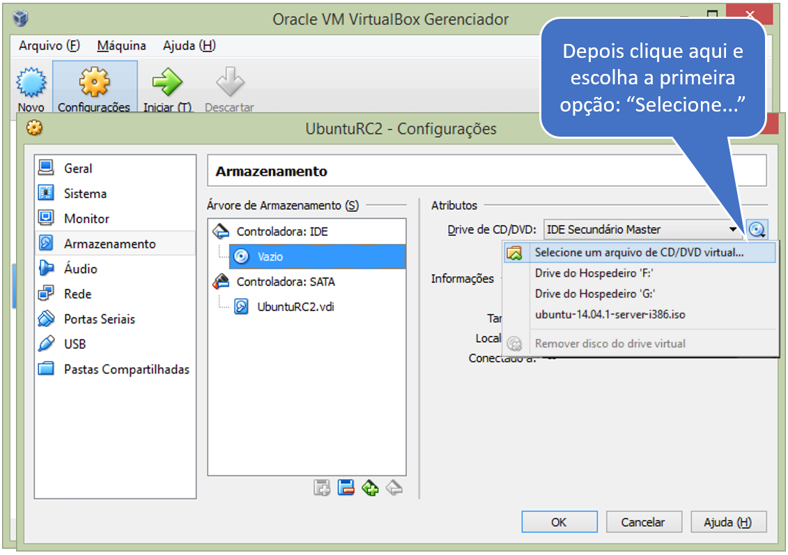 DG Bits: VirtualBox - Configurações do Ambiente para o