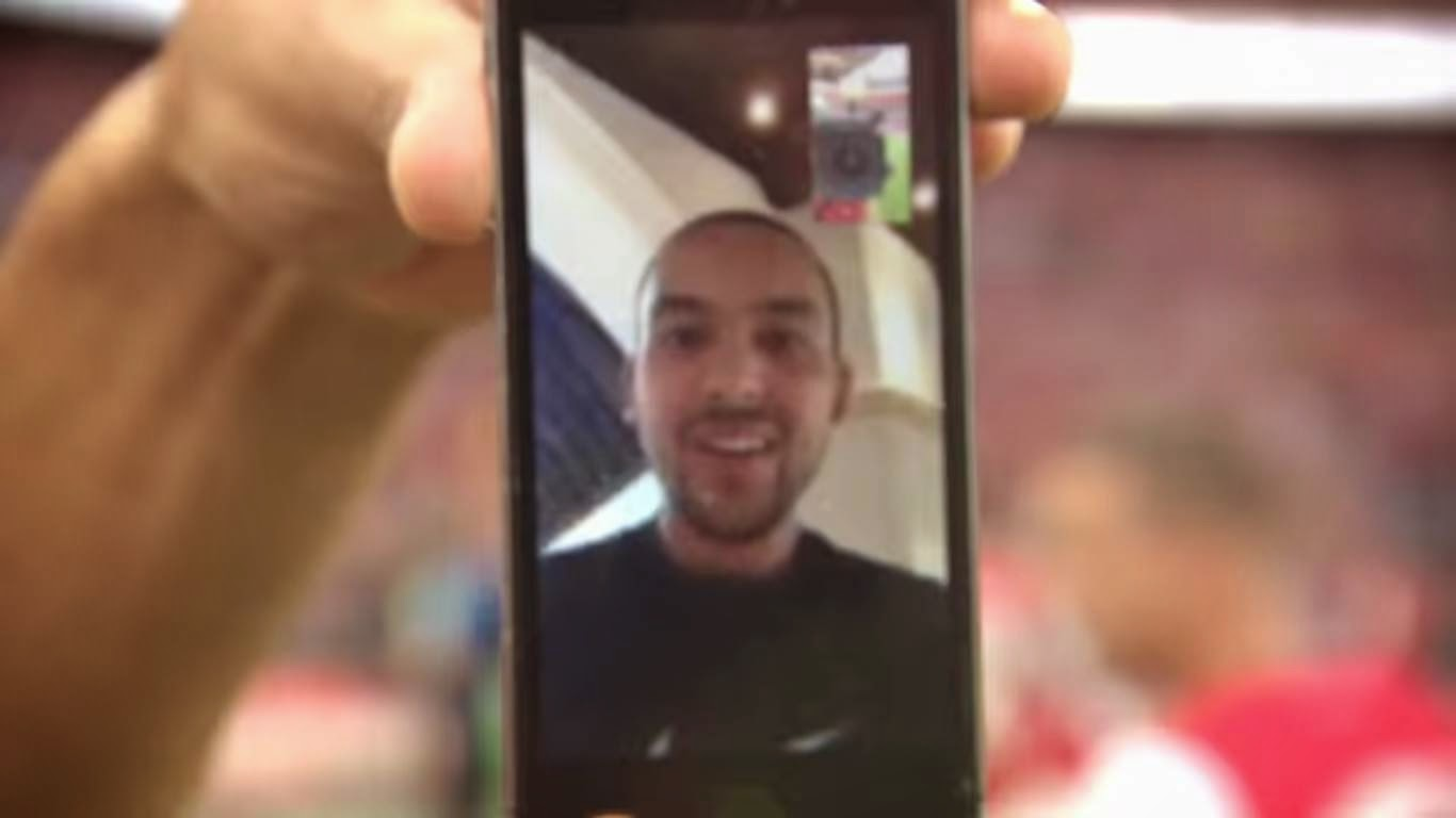 Theo Walcott Arsenal FA Cup Facetime
