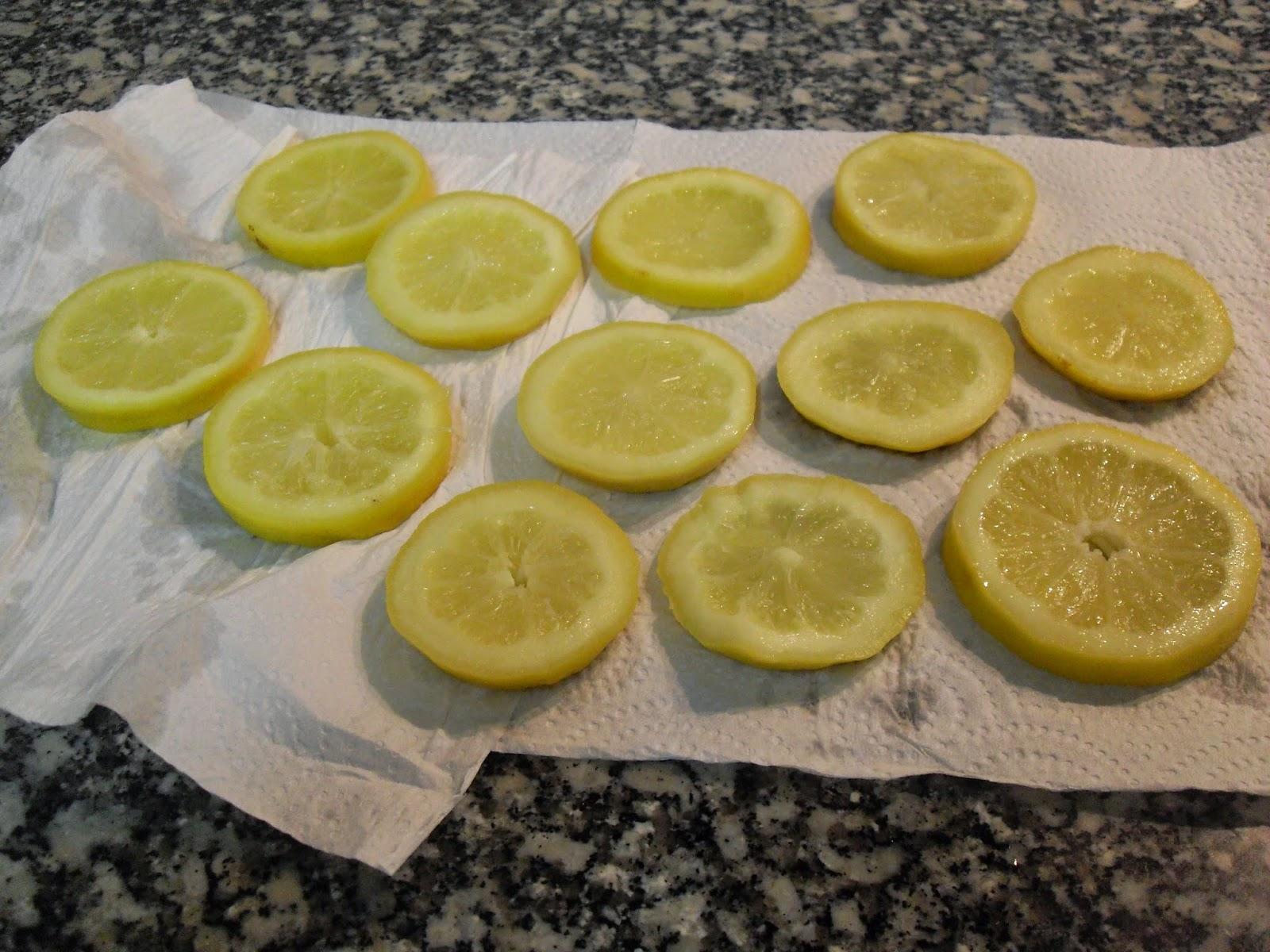Secado de los limones.
