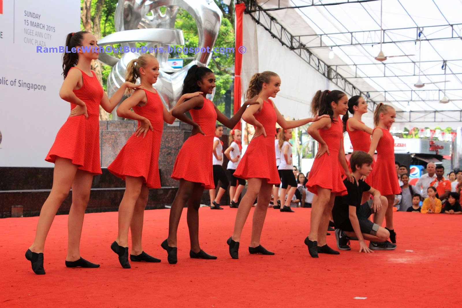 Expat girls dance, Singapore International Red Cross Bazaar 2015