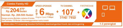 Paket Combo Family HD WIFI - First Media Promo Juli 2018 Global Offer