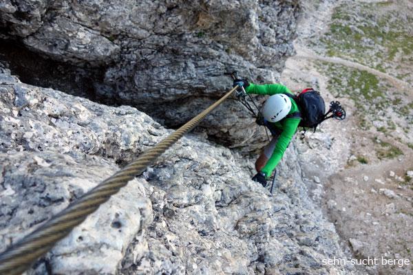 Klettersteig Vinschgau : Tabaretta klettersteig