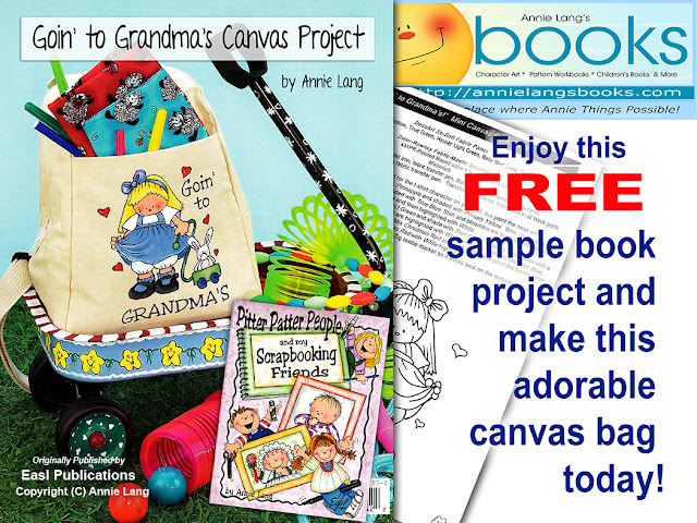 Just right click and save Annie Lang's FREE Goin to Grandmas project page!