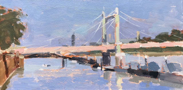 #341 'Afternoon Light, Albert Bridge' 6×12″