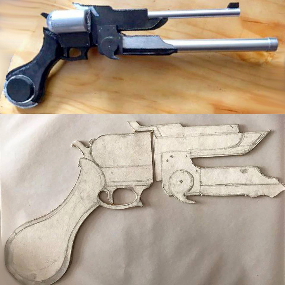 Final Fantasy XV Cosplay Prompto Argentum Prop Weapon | DESIGN NURD