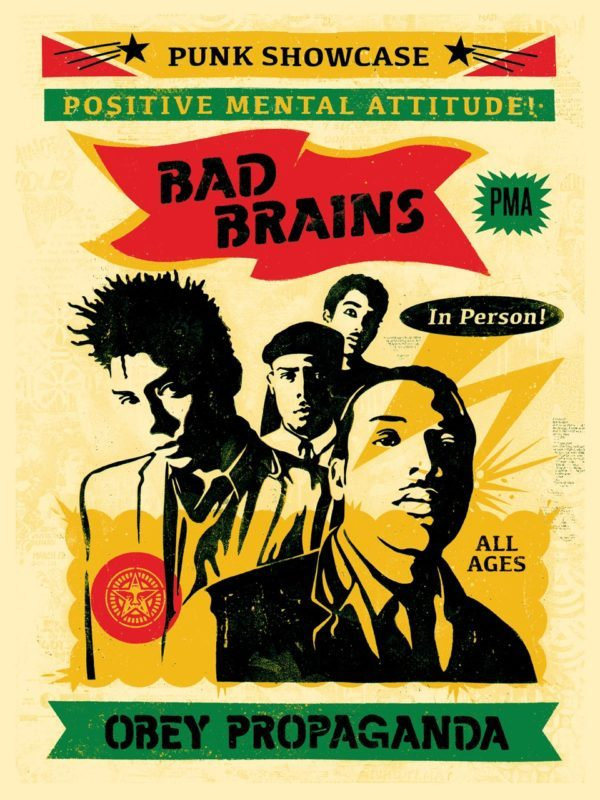 shepard fairey bad brains punk showcase rasta poster