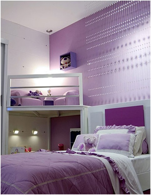 Dormitorios lilas para ni as y chicas adolescentes for Dormitorios para ninas adolescentes