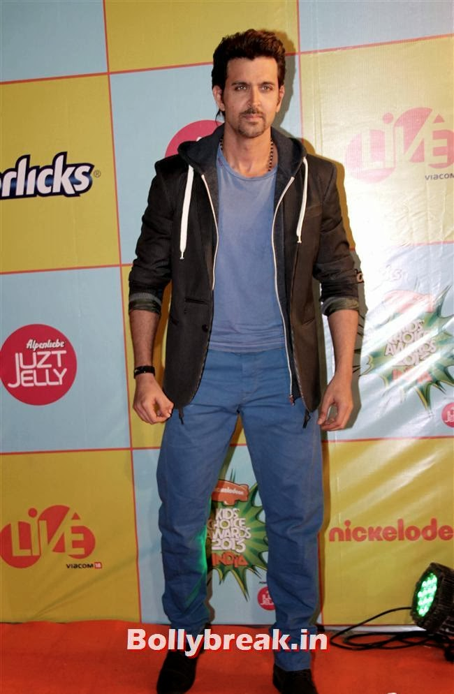 Hrithik Roshan, Nickelodeon Kids Choice Awards 2013 - Jacqueline Fernandez