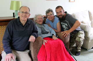With my parents and my Nan